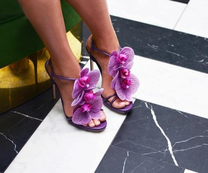 flowers, unique, and heels image