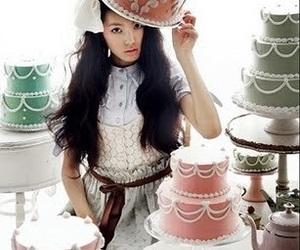 model, vogue girl korea, and girly image
