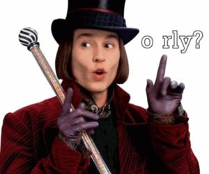 johnny depp and Willy Wonka image