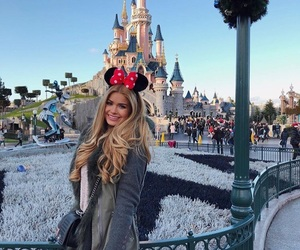 blonde and disneyland image