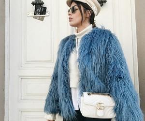 blue coat, fashion, and style image