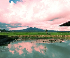 aesthetic, lake, and mountain image