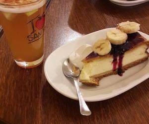 banana, cheesecake, and apple cider image