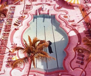 pink, pool, and vintage image