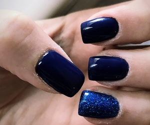 blue, mynails, and fashion image