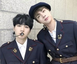 bts, jin, and suga image