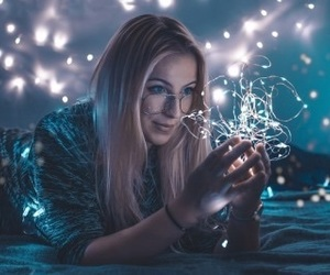 alternative, girl, and lights image