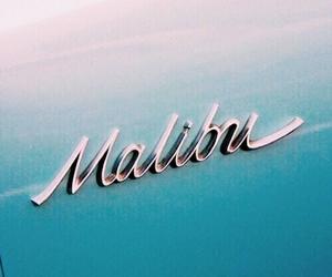 malibu, blue, and car image