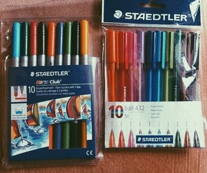 colour, school, and markers image