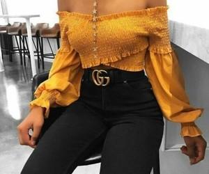 fashion, gucci, and yellow image