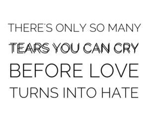 heartbroken, sad, and tears image