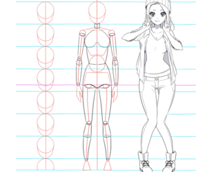 body, Chica, and dibujo image
