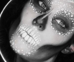 make up, skull, and makeup image