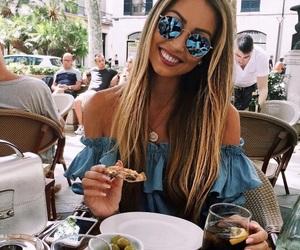 girl, food, and hair image