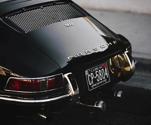 car, black, and porsche image