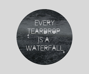 coldplay, quote, and teardrop image