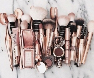 makeup, Brushes, and beauty image