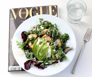 food, vogue, and salad image