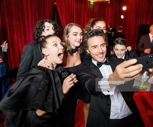 finn wolfhard, millie bobby brown, and noah schnapp image