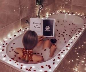 luxury, bath, and book image