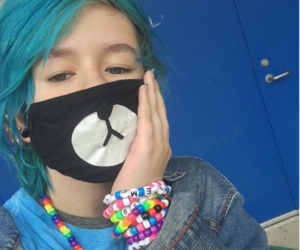 blue hair, xxitxbexjoeyxx, and emo image