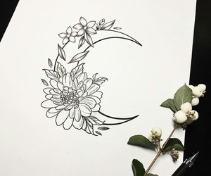 art, drawing, and tattooart image