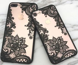 case, apple, and black image