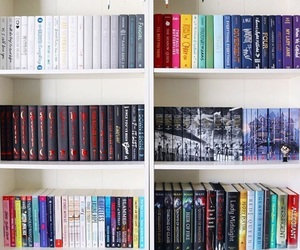 Book Bookshelf And Rainbow Image