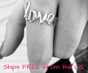 etsy, silver jewelry, and love ring image
