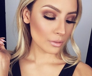 makeup, beauty, and blonde image
