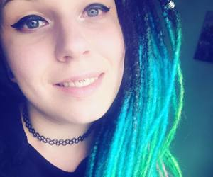 blue, dreadlocks, and smiley image