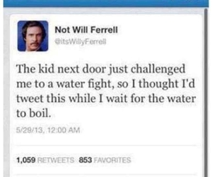 funny, twitter, and will ferrell image