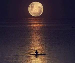 moon, nature, and landscape image