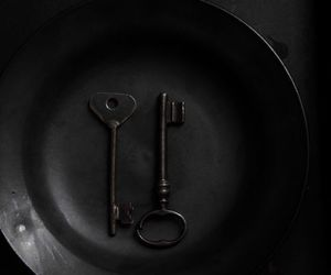 black, plate, and vintage image