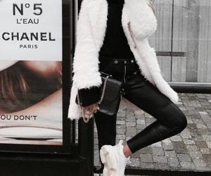 fashion, faux, and fur coat image