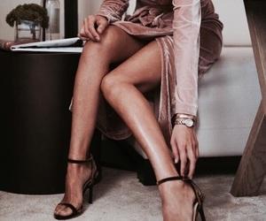 dress, heels, and velvet image