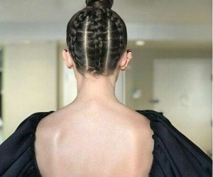 back, braids, and hair image