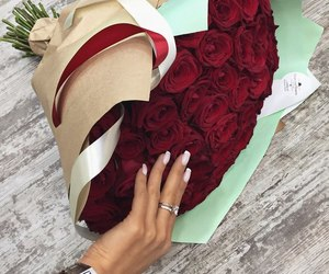 beautiful, flowers, and manicure image