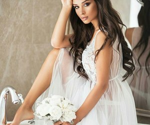 bride, hair style, and happy image