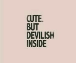 cute, quotes, and Devil image