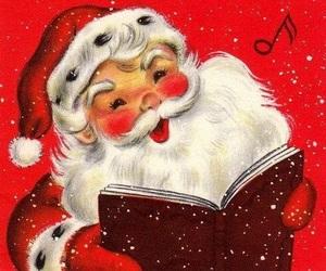 cartoon, father christmas, and christmas image