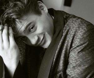 boy, robert downey jr, and black and white image
