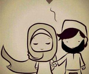 love, hijab, and islam image