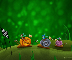 race, snail, and cute image
