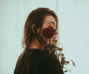 girl, rose, and alternative image