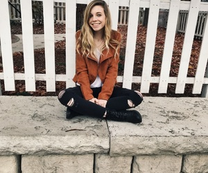 black jeans, blazer, and blonde hair image