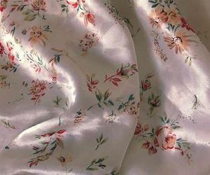flowers, satin, and patterns image