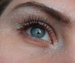 eyes, glitter, and eye image