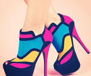 beautiful, shoe, and colores ​ image