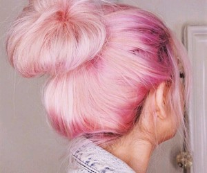 colorful hair, hair, and pink hair image